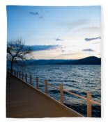 Night Falls Fleece Blanket