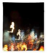 Night Forest - Light Spirits Limited Edition 1 Of 1 Fleece Blanket
