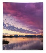 Night Gives Way To Dawn Fleece Blanket