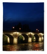 Night In Amboise Fleece Blanket