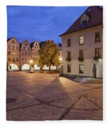 Night In City Of Jelenia Gora In Poland Fleece Blanket