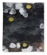 Night Lotus Fleece Blanket