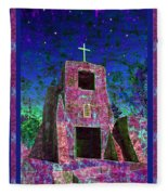 Night Magic San Miguel Mission Fleece Blanket