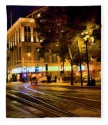 Night Moods San Jose Ca  Fleece Blanket