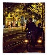 Night Moods Streets Of San Jose   Fleece Blanket