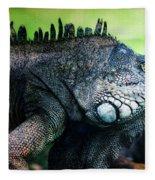 Night Of The Iguana Fleece Blanket