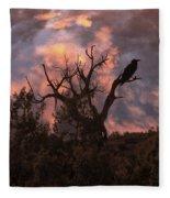 Night Of The Raven Fleece Blanket