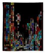 Night On The Town - Digital Art Fleece Blanket