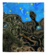 Night Petrified Fleece Blanket