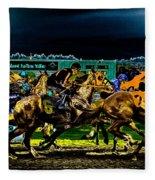 Night Racing Fleece Blanket