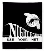 Night Raider Ww2 Malaria Poster Fleece Blanket