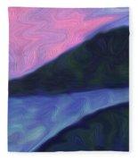 Night River Fleece Blanket