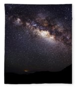 Night Sky - Haleakala Summit Fleece Blanket