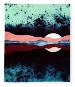 Night Sky Reflection Fleece Blanket