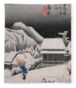 Night Snow Fleece Blanket