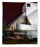 Night Time At The Rock Hall Fleece Blanket