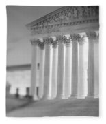 Night Us Supreme Court Washington Dc Fleece Blanket