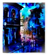 Night Walking In New Orleans Fleece Blanket