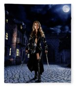 Night Warrior Fleece Blanket