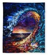 Night Wave Fleece Blanket