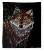 Night Wolf Fleece Blanket