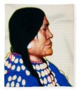 Night Woman, A Blackfeet Of Montana Fleece Blanket