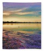 Nightfall On The Bay Fleece Blanket