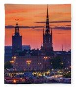 Nightsky Over Stockholm Fleece Blanket
