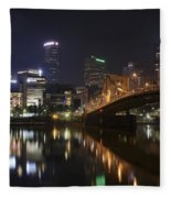 Nighttime In The City Fleece Blanket