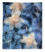Nighttime Narcissus Fleece Blanket