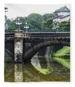 Nijubashi Bridge At Imperial Palace Fleece Blanket