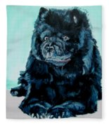 Nikki The Chow Fleece Blanket