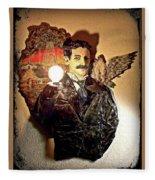 Nikola Tesla At Wardenclyffe Fleece Blanket
