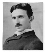 Nikola Tesla - Circa 1890 Fleece Blanket