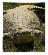 Nile Crocodile - Africa Fleece Blanket