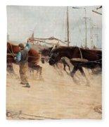 Nils Kreuger,   From The Dutch Coast. Fleece Blanket
