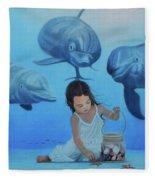 Ninia Del Mar Fleece Blanket