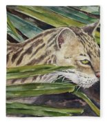 Nirvana - Ocelot Fleece Blanket