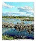 Nisqually Marsh Fleece Blanket