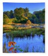 Nisqually Pond Fleece Blanket