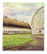 Nisqually Twin Barns Fleece Blanket