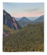 Nisqually Valley In Color Fleece Blanket