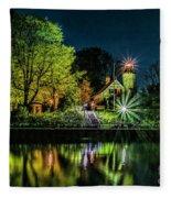 Nite At White River Light Fleece Blanket