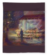 Nite Flower Market Fleece Blanket