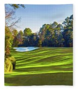 No. 5 Magnolia 455 Yards  Par 4 Fleece Blanket