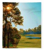 No. 9 Carolina Cherry 460 Yards Par 4 Fleece Blanket