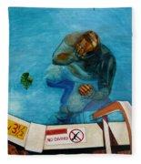 No Diving Fleece Blanket