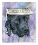 No Dogs Allowed Fleece Blanket
