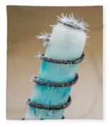 Hoar Frost Crystal Fleece Blanket