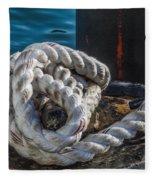 Ship Rope Fleece Blanket